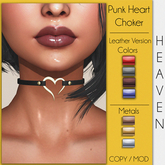 .:Heaven Store:. Punk Heart Choker Leather (ADD)