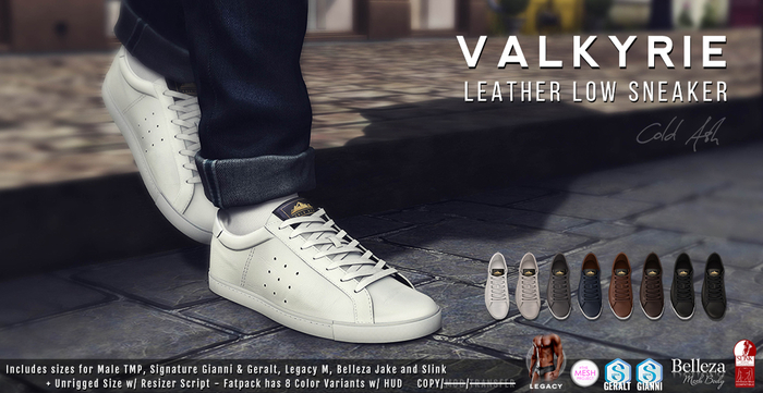 {COLD-ASH} Mens MESH VALKYRIE SNEAKERS FATPACK