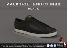 {COLD-ASH} Mens MESH VALKYRIE SNEAKERS (Black/WhiteSole)