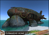 HeadHunter's Island - Beached Submarine Home/shelter - VERSION 2 - non - tropical edition - 158+ animations - MESH