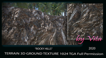 Vita's 3D Ground Texture ROCKY HILLS Seamless 1024 TGA 2020