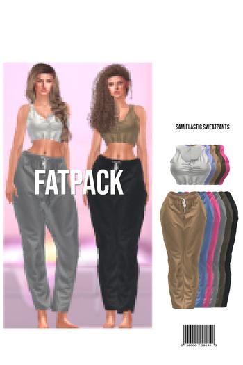 Sam Crop Tanktop & Elastic Sweatpants (FATPACK)