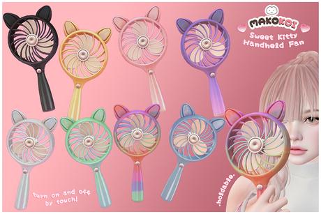 MAKOKOI . Sweet Kitty Handheld Fan