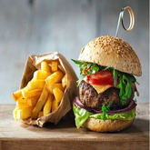 DFS Double Bacon Cheese Burger & Fries