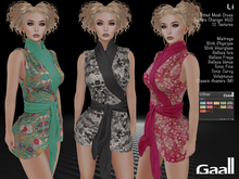 Gaall Li Dress - Maitreya, Slink (P, H), Belleza (V, I, F), Tonic (C, F), Voluptuous and Classic M. 12 Text HUD