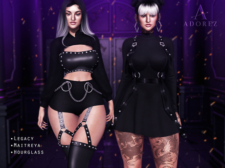 AdoreZ-Carolyn Outfit Set Black