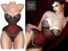 BigBeautifulDoll - ASTERIA Mesh Lingerie - RED with BLACK LACE - Maitreya V-Tech Legacy Slink Belleza Freya Corset