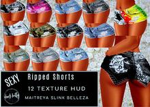 [DB] Sexy Ripped Shorts 12 Texture HUD - Maitreya Slink Belleza