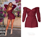 TETRA - Velvet mini dress (Burgundy)