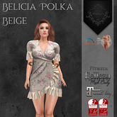 **Mistique** Belicia Polka Beige (wear me and click to unpack)