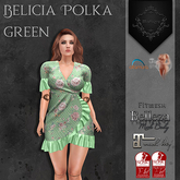 **Mistique** Belicia Polka Green (wear me and click to unpack)