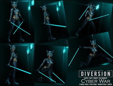 Diversion - Cyber War Poses // Bento