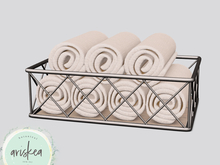 Ariskea[Mist] Towel Basket
