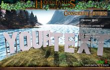 [Harshlands] Concrete Letters