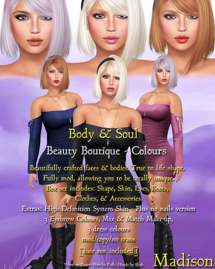 Body & Soul - Complete Avatar - BEAUTY BOUTIQUE - NEW Madison