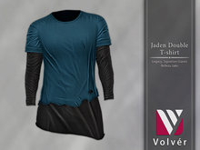 //Volver// Jaden Double T-shirt - Nile Blue