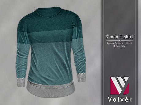 //Volver// Simon T-shirt - Dark Cyan