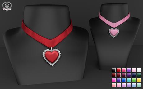 Bowtique - Heart Charm Necklace (Color Change)