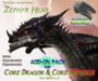 THE ZEPHYR ~ Add-On Head for PREHISTORICA Dragon / Wyvern Avatar