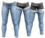 RIOT / Jaden Strip Jeans - Robin's Egg | Jake/ Gianni / Legacy