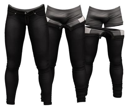 RIOT / Jaden Strip Jeans - Black | Jake/ Gianni / Legacy