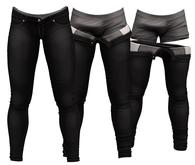 RIOT / Jaden Strip Jeans - Black