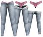 RIOT / Juno Strip Jeans - Stonewash   Maitreya / Belleza / Slink / Legacy