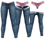 RIOT / Juno Strip Jeans - Blue46   Maitreya / Belleza / Slink / Legacy