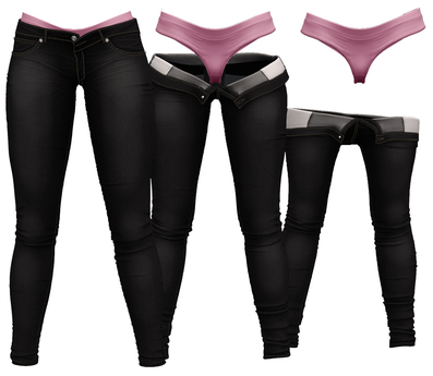 RIOT / Juno Strip Jeans - Black   Maitreya / Belleza / Slink / Legacy