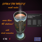 Soma FM radio-elegant mesh pewter cup!