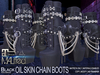 MALified - Chain Boots Oil Skin (Black): Maitreya Only