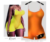Vague. Renegade Romper - Orange -