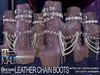 MALified - Chain Boots Leather (Brown): Maitreya Only