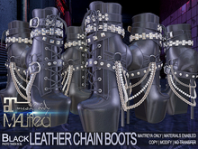MALified - Chain Boots Leather (Black): Maitreya Only