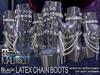 MALified - Chain Boots Latex (Black): Maitreya Only