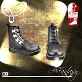 AFantasy FLAT SLINK Womens Black Work Boot