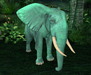 Retired oYo Elephant - Retired Baby GreenElephant Ganesh Tamed
