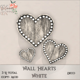 Bloom! - Wall Hearts White (wear me to Unpack)