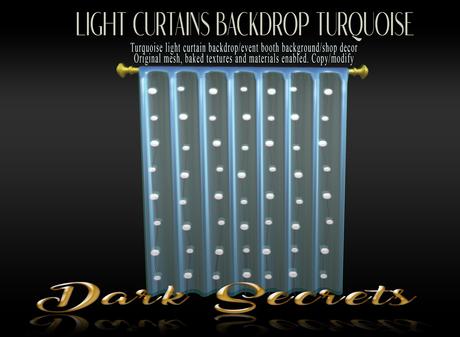 Dark Secrets - Light Curtains Turquoise