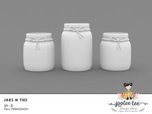 SUMMER SALE 50% OFF - Joolee Tee Builders - Jars w Ties