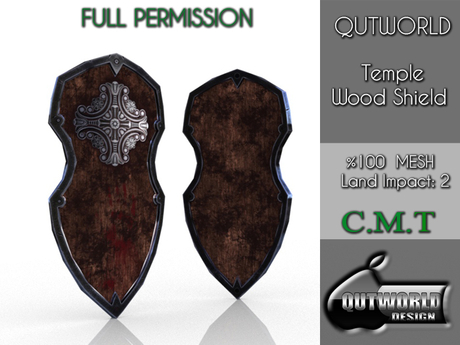.::QUTWORLD Temple Wood Shield::.FP