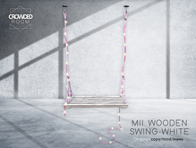Crowded Room - MII Wooden Swing Chair - WHITE - PG