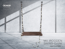 Crowded Room - MII Wooden Swing Chair - DARK - PG
