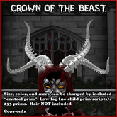 Crown of the Beast, horns of vertebra bones