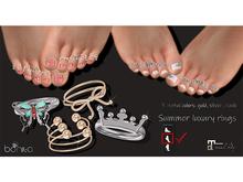 *Bonita* Summer luxury rings (Maitreya Feet Mid)