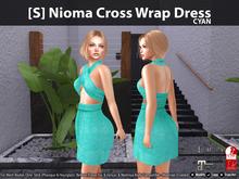[S] Nioma Cross Wrap Dress Cyan