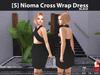 [S] Nioma Cross Wrap Dress Black