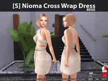 [S] Nioma Cross Wrap Dress Beige