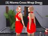 [S] Nioma Cross Wrap Dress Red
