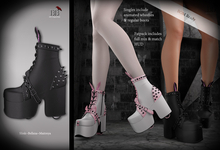 (*<*) 1313 Emo Usagi/Neko Wheelies/Boots - Black